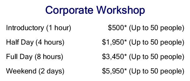 Corporate Workshop Price